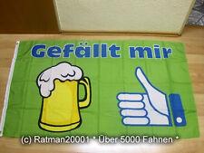 Fahnen Flagge Bier Gefällt mir - 90 x 150 cm