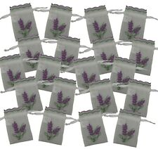 20 New Lavender Embroidered Organza Translucent Semi See through Bags