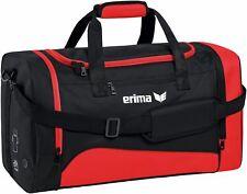 Erima Club 1900 2.0 Bolsa Deporte Negro Rojo Mujer Hombre Niños Nuevo