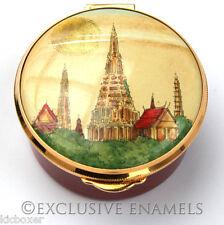 Staffordshire Enamels Temple Of Dawn Bangkok Enamel Box