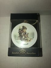 Ornament Germany M J Reutter Hummels Porzellan Ride into Christmas Free Shipping