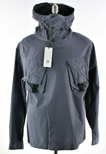 C.P. (CP) Company NWT Hooded Pullover w Military Pockets Size L in Greyish Blue