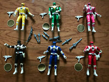 Vintage Bandai Mighty Morphin Power Rangers Lot of 6 + Zedd in Original Box