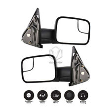 Dodge Ram 1500 2500 3500 Towing Mirrors Pair Power Heated Flip-Up Chrome 2002-08