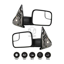 Dodge Ram 1500 2500 3500 Towing Mirrors Pair Power Heated Flip-Up Black 2002-08