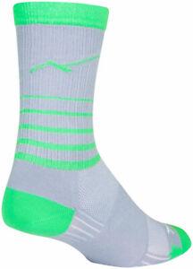 SockGuy SGX Peaks Socks   6 inch   Gray/Green   L/XL
