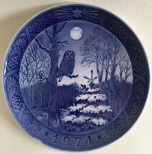 Royal Copenhagen Christmas Plate 1974 Winter Twilight Artist Kaj Lange Denmark