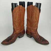 Vtg Nocona Brown Leather Reptile Lizard Skin Western Cowboy Boots Men's Sz 9.5 D