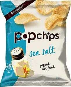 POPCHIPS | Sea Salt Flavour Baked Healthy Chips 23g (24 pack) | EXPIRED CLEAR