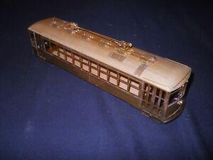 Ken Kidder O Scale Brass Double Truck Birney with Single Rear Door BODY ONLY