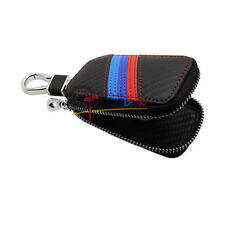 For BMW Key Case Smart Key Fob Holder Protector Shell Cover Car Keychain Leather