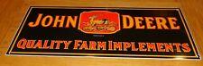 "Vintage 1934 John Deere Farm Implements 23"" Porcelain Metal Gasoline & Oil Sign!"