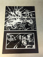 ARMED AND DANGEROUS hells slaughterhouse #1 original art EXPLOSION GUNS, VALIANT