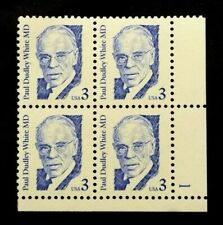 US Plate Blocks Stamps #2170 ~ 1986 PAUL DUDLEY 3c Plate Block MNH