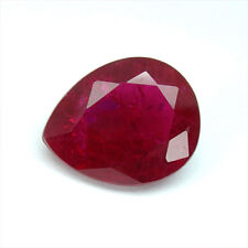 8.70 carats PIGEON BLOOD RED RUBY PEAR LOOSE GEMSTONE JEWELRY poire rubis rouge