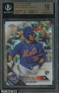 2016 Topps Chrome Holiday Mega Box Michael Conforto RC Rookie BGS 10 PRISTINE