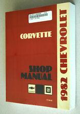 1982 CORVETTE SHOP SERVICE REPAIR MANUAL ENGINE DRIVE TRAIN MECHANICAL & MORE