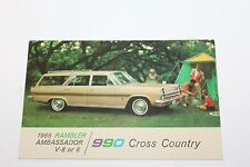 1965 RAMBLER AMBASSADOR 990 CROSS COUNTRY WAGON DEALER ADVERTISING  POSTCARD