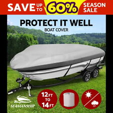 Seamanship 12 -14ft 3.6-4.2m Trailerable Boat Cover Waterproof V-hull Marine