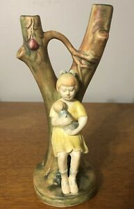 Weller Muskota Girl and Doll Baby Figure MINT!