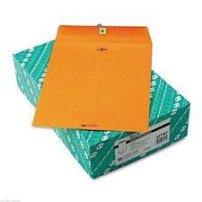 100 BUSINESS ENVELOPES 10x13 32lb Kraft Manila Shipping Catalog Yellow Clasp #97