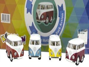 1 X DIECAST MINI VW KOMBI bus Volkswagen car toys vehicle kids gift model van
