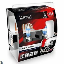 Lunex HB4 12V 55W 9006 Night Vision Bombillas Faro + 25% Blanco 3600K Set
