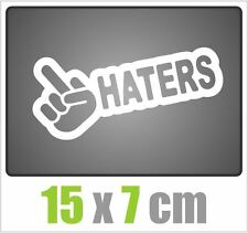 BordeI Haters autocollant JDM style sticker OEM tuning autocollant stickerbomb blanc 15x7cm