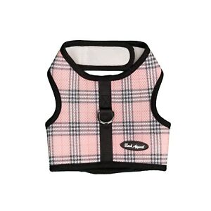 Bark Appeal EZ Wrap n Go Plaid Dog Step In Harness Pink Sizes XS-XL
