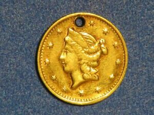 USA 1853 CALIFORNIA 1/2 Dollar GOLD  VF