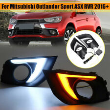 Pair LED Daytime Running Light DRL Fog Lamp Fit Mitsubishi ASX RVR 2016-2018 HIQ