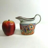 Antique 19th C English  Creamer Sauce Gravy Boat W 18th C Chinese Export Decor