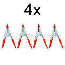 "4 Pc 4"" Soft Pvc Jaw Metal Spring Clamp Handle Tip Coated Welding Bu-41216Mc"