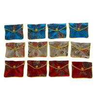 12 x Jewellery Jewelry Silk Purse Pouch Gift Bag Bags HOT W3J2