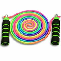 Anna's Rainbow Double Dutch Jump Rope - 8mm Nylon Skipping Rope For Kids
