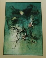 LEBADANG ABSTRACT EXPRESSIONISM LITHOGRAPH  LIMITED MODERNIST SIGNED RARE