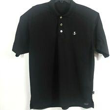 Pro Celebrity Moisture Management Golf-Polo Shirt with Panda Logo, Black