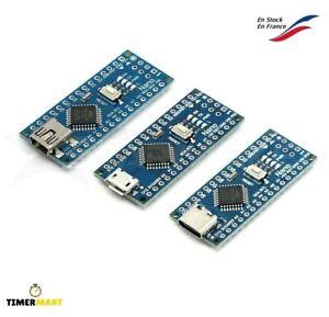 Carte compatible Arduino NANO V3 ATmega328P Micro / C / Mini-USB 1 à 5pcs CH340G