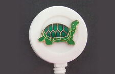 TURTLE Retractable ID Card Holder/Security Badge reel/Key chain ring green cute