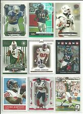 HUGE ANDRE JOHNSON 120 CARD ALL DIFFERENT LOT TEXANS + w/ 2 RC