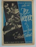 Cesar R. Bahr Ilse Werner 6 neue Lieder Adolf Steimel Noten 1943 Klavier B7608