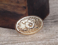 5pcs 43*26MM Gothic Oval Celtic Flower Leathercraft Rose Gold Conchos Screw back