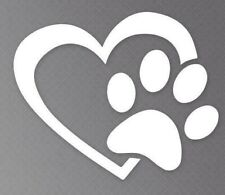 Heart and Paw Cat Vinyl Car Truck DECAL  Window STICKER Pets Kitty