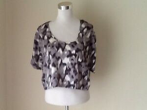 Valley Girl Blouse Crop VGC Size 12