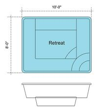 New listing Fiberglass Pool/ Spa 8'X10'X42' Deep $6,500 Great Diy Project Fits 6 People