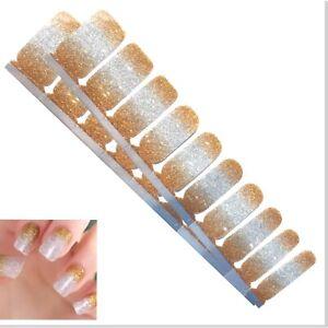 Jaysea Nails Polish Strips - Color Gold Silver Ombre Street Nail Art -B4G1 Free!