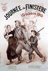 "Theophile Deyrolle, Finistere Day 1915 France Patriotism World War 1 Print 11x8"""