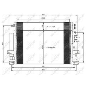 1 Condenseur, climatisation NRF 35966 EASY FIT convient à CHRYSLER LANCIA