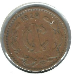 1929-M Mexico Circulated One Centavo Coin