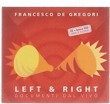 FRANCESCO DE GREGORI LEFT & RIGHT DOCUMENTI DAL VIVO CD + DVD F .C. SIGILLATO!!